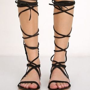 Matisse Atlas Gladiator Sandal Black Suede 8